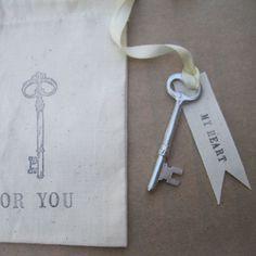 vintage keys, bookmarks, heart, romantic vintage, key idea, diy, christmas trees, christmas tree ornaments, romant vintag