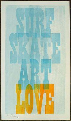 Surf Skate Art Love