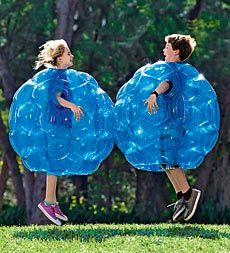 Our boys have played basketball and soccer with these Buddy Bumper Balls, give it a try, twice the fun.
