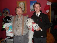 Elder Haslam,myself,and  Melvin ( polar bear),plus Little Phil