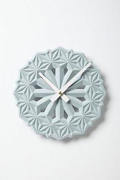 Hexa Clock #anthropologie