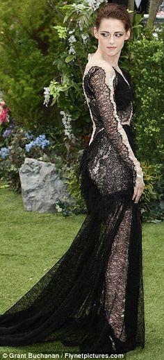 Kristen Stewart wore Marchesa - to the Snow White & The Huntsman Premiere London