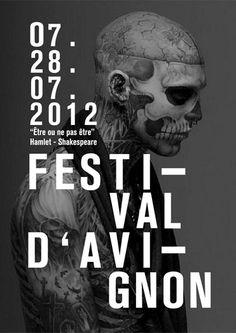 Been on a skull kick today... etre ou ne pas etre poster by matthieu salvaggio