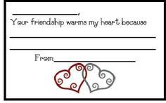 Valentine Bucket Fillers Freebie
