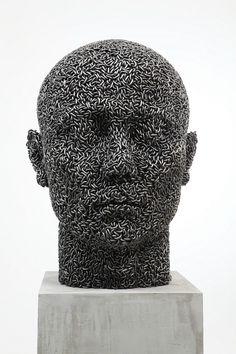 Head of chains. Sculpture by Korean artist Yeong-Deok Seo. #art