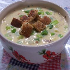 PEGGI'S CHEESY BEER SOUP