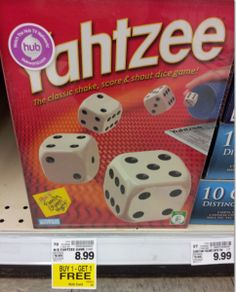 New Hasbro Coupon + Rebate = FREE Yahtzee at Kroger & Affiliate Stores | Bargain Hound Daily Deals