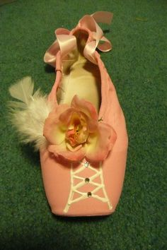 custome decorated pointe shoe by PointePerfection1 on Etsy, $15.99