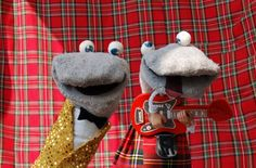 Scottish Falsetto Sock Puppets.