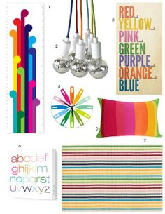 Inspiration Board: Rainbow Decor