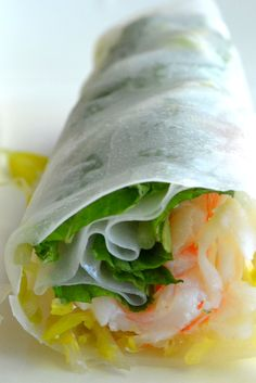 These summer rolls cool down even the hottest of summer evenings!
