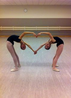 dance = love  It may not be cliche to create a piece using bodies to spell out words/messages through space