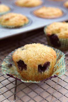 Gluten-free Lemon Ricotta Blueberry Muffins. #food #gluten_free #breakfast