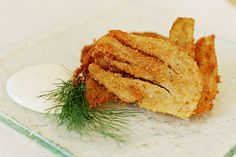 Parmesan-crusted fennel fritters with Meyer lemon dip    sounds delicious!