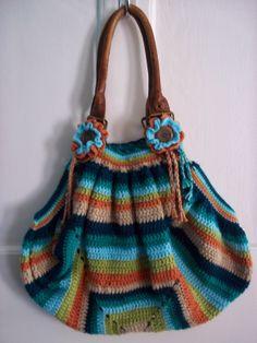 Beautiful giant granny square bag. Tutorial