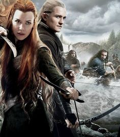 books, ring, tauriel and legolas, barrels, the hobbit, tolkien, lord, middl earth, elv