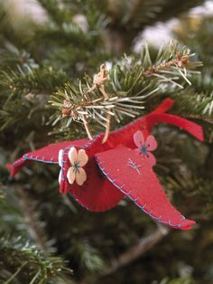 Handmade bird ornament