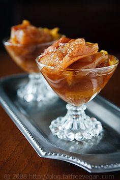 Apple-Pumpkin Delight, a low-fat #vegan dessert