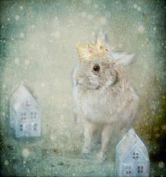 5x7 surreal bunny rabbit fine art photograph photo by Kristybee, $15.00