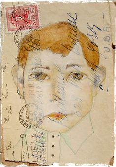 lynne hoppe: gestures and mumblings #collage #mail_art
