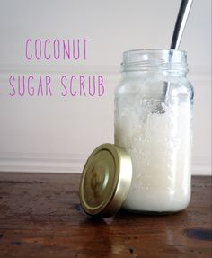Coconut sugar scrub. DIY with instructions and recipe. :)