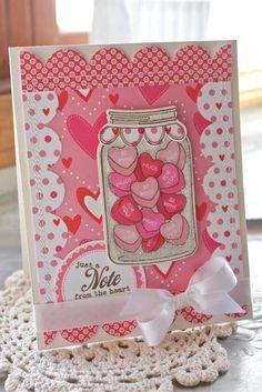 Conversation Heart Valentine Card