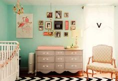 wall colors, frame, color schemes, dresser, girl nurseries, babies nursery, changing tables, girl rooms, babies rooms