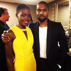 """12 Years A Slave"" Star Lupita Nyong'o and Kanye West"