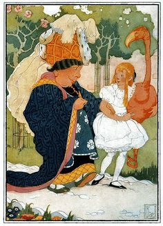 'Everything's got a moral, if only you can find it.' illustration by Gertrude Kay (1884-1939) American illustrator