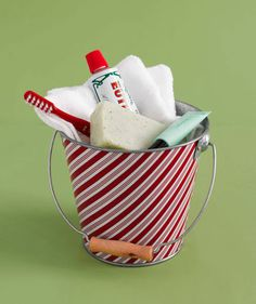 Welcome basket!   Make overnight guests feel right at home...