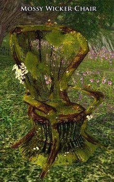 Mossy Wicker Chair