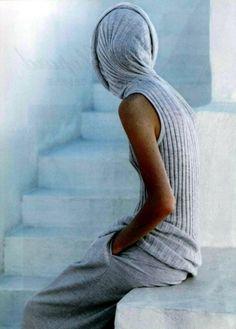 light blue | knit | hood | hoodie | fashion | white wash | greece | greek islands | knitted top | blue | grey | santorini  | www.republicofyou.com.au