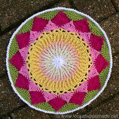 Protea Mandala 11 King Protea Mandala  {Another Crochet Mandala}