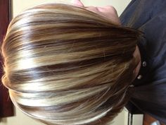 Brown Hair With Chunky Highlights And Lowlights Images & Pictures ...