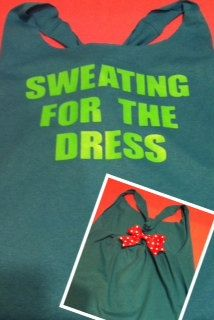 Sweating for the Dress Workout Tank Top by RufflesWithLove on Etsy, $22.00