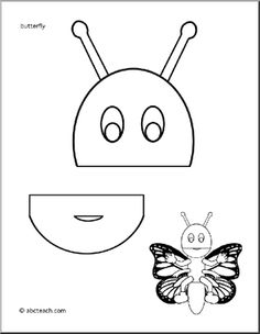 Paper Bag Puppet: Animals - Butterfly -