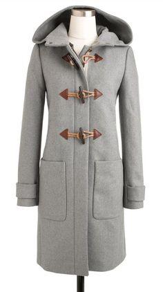 Grey toggle coat