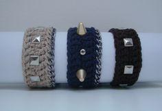 Crochet Studded Bracelet  https://www.facebook.com/hilaria.fina