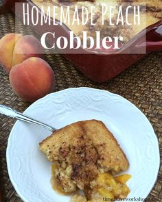 Homemade Peach Cobbl