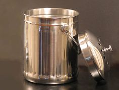 stainless steel compost pail from clean air gardening