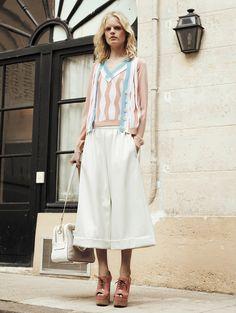 Retro Pastel I Sonia Rykiel Resort 2014 #fashion #resort2014