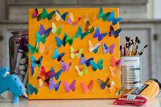 Kid's butterfly art project