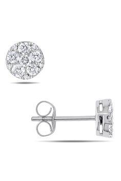 0.5ct Diamond Earrings In 10k White Gold