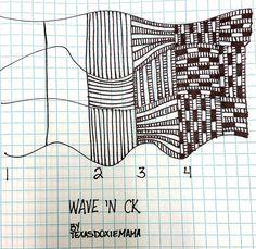 Wave 'N Ck~Zentangle