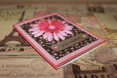 Cherry Blossom key to my heart handmade card by AnLieDesigns, $2.00