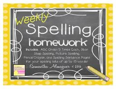 """These pages are a simple solution to making easy, useful worksheets for spelling homework or seat work!  In this unit, you will find five different spelling practice pages for your students, which include: - ABC Order / 3 times each - Stair Step Spelling - Picture Spelling - Pencil / Crayon - Spelling Sentences  These pages will work with any spelling or vocabulary unit (up to 15 words!)    ******************************************************************************  **For lists of up to 20 words, check out my NEW """"Weekly Spelling Printables"""" Unit:  Weekly Spelling Printables  It includes additional printable activities for both 15 and 20 word lists, spelling test templates, and spelling activity task cards!  Over 20 pages of activities and printables for only $3.00!"""