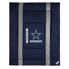 Sports Coverage 01JSCOM1COWQUEN Sideline Dallas Cowboys Queen Comforter in Midnight Blue