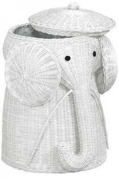 Elephant Hamper: @ Divya Silbermann, Also available in honey and brown. On sale $63. #Elephant_Hamper #Laundry_Hamper