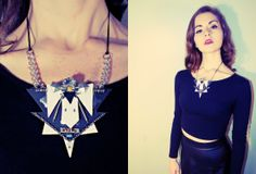 Cool necklace made from old printer parts