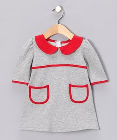 Take a look at this Gray & Red Dress - Infant, Toddler & Girls by Paulina Quintana on #zulily today!